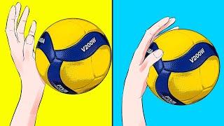 Нападающий Удар в Волейболе (Как Играть в Волейбол)