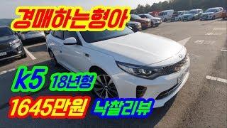 【자동차경매】 k5 신차급에 키로수 짧은 중고차~ 옵션…