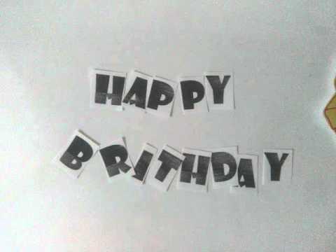 Stop Motion Happy Birthday Untuk Sahabat