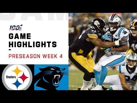 Steelers vs. Panthers Preseason Week 4 Highlights   NFL 2019
