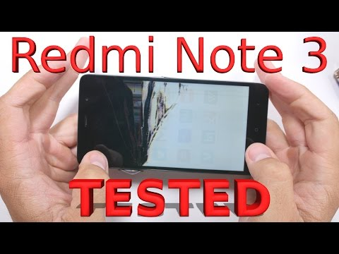 Redmi Note 3 - Durability Video - Scratch, Burn, Bend Test