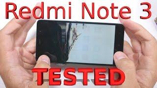 Redmi Note 3 - Durability Video - Scratch, Burn, Bend Test