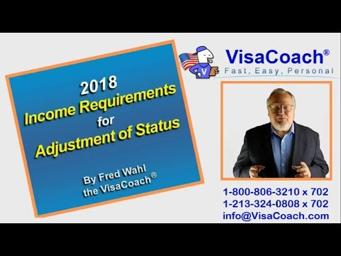 2018 Adjustment of Status Sponsor Income Requirements