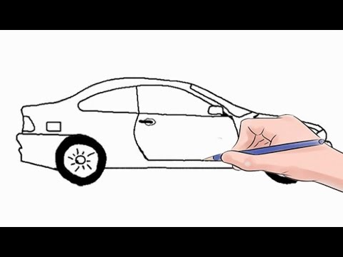 How to draw a car easy step by step youtube