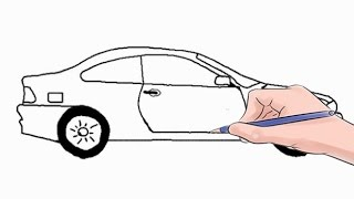 Як намалювати машину крок за кроком