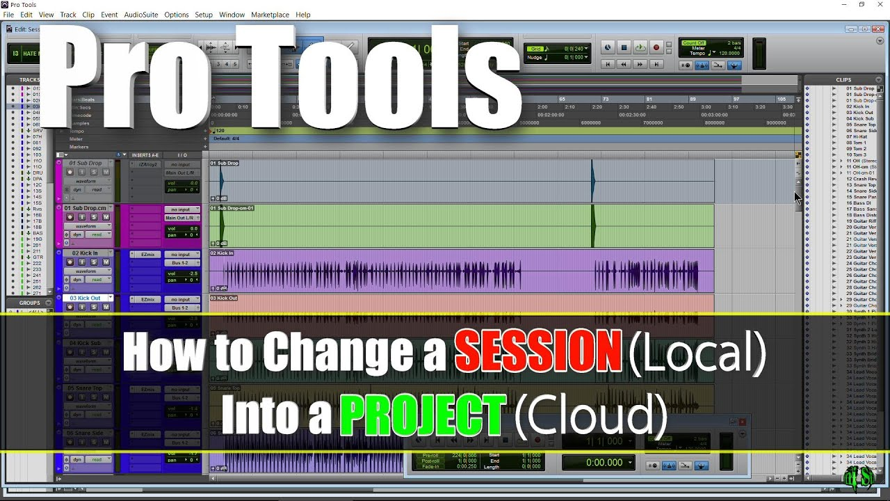 Pro Tools - How To Change a SESSION (Local) into a PROJECT (Cloud)