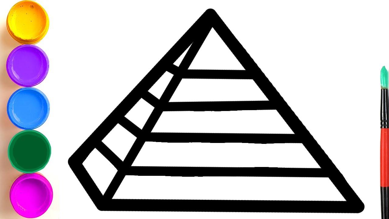 Ensine seu filho a pintar a pirâmide | Nós ensinamos a criança a desenhar em etapas