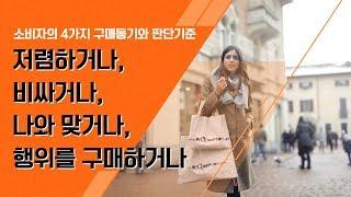 [마케팅의 정석] 소비자 구매동기와 판단기준 4가지 - 소비자행동의 이해 -