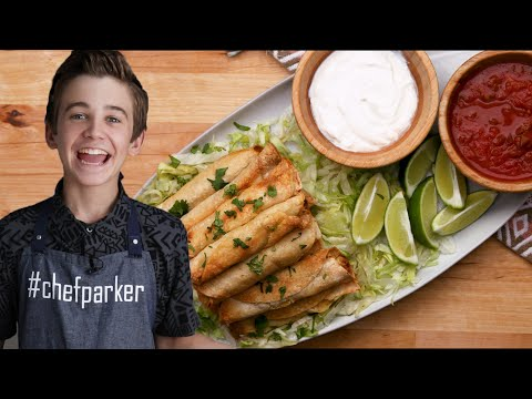 Gluten-Free Chicken Taquitos As Made By Parker Bates • Tasty