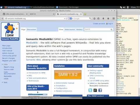Installing Semantic MediaWIki with the RDFIO extension on Xubuntu 14 04