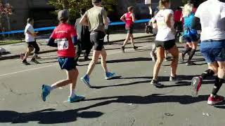 Yingerman runs the marathon in Williamsburg