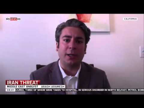 Arash Aramesh of Stanford Law School Commenting on Possible War with Iran (Sky World News)