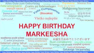 Markeesha   Languages Idiomas - Happy Birthday