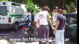 Un Herido en Accidente de Transito en Calle 19 Esquina 12 (www.fm105punto1.com.ar)