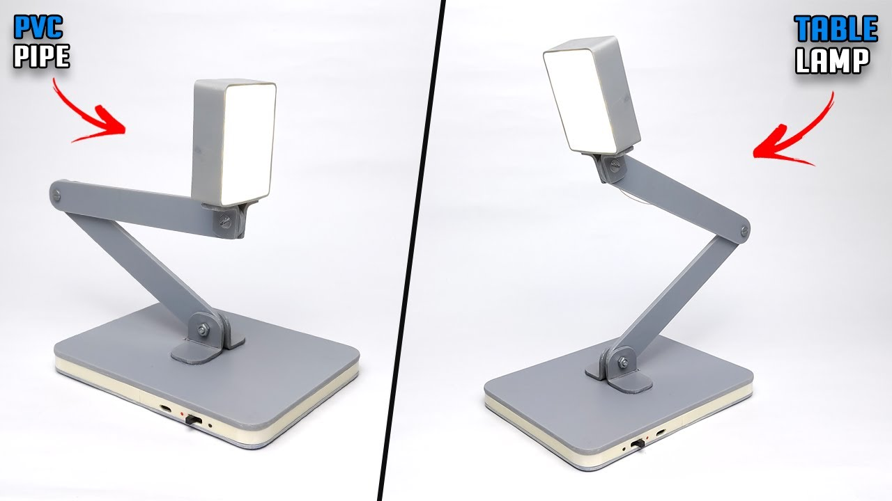 How To Make Rechargeable Table Lamp At Home