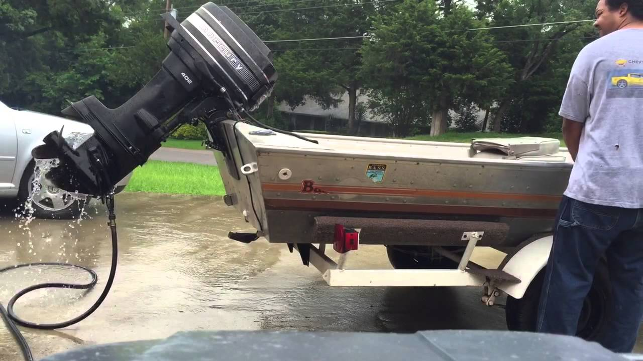 1979 bass tracker first start of the year youtube for Buy bass boat without motor