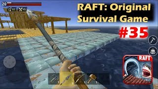 METAL FOUNDATION FOR METAL STRUCTURE | RAFT: Original Survival Game GAMEPLAY Part 35