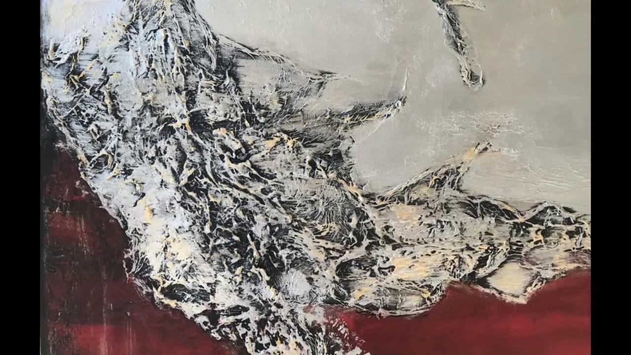 """Xxl Acrylbilder xxl acrylbild abstrakt mit struktur """"""""silver-red"""""""" demovictoria"""