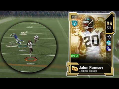 GOLDEN TICKET JALEN RAMSEY DEBUTS WITH A BANG! [MADDEN 20 GAMEPLAY]