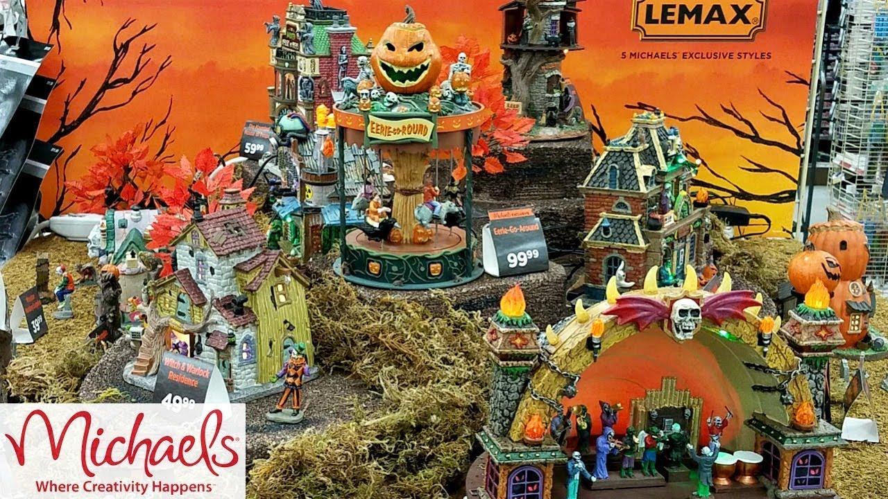 Michaels 2020 Halloween Village LEMAX Halloween SPOOKY TOWN VILLAGE 2018 MICHAELS   YouTube
