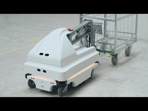 Mobile robot application at MIR (Mobile Industrial Robots Denmark) with sensors from SICK | SICK AG