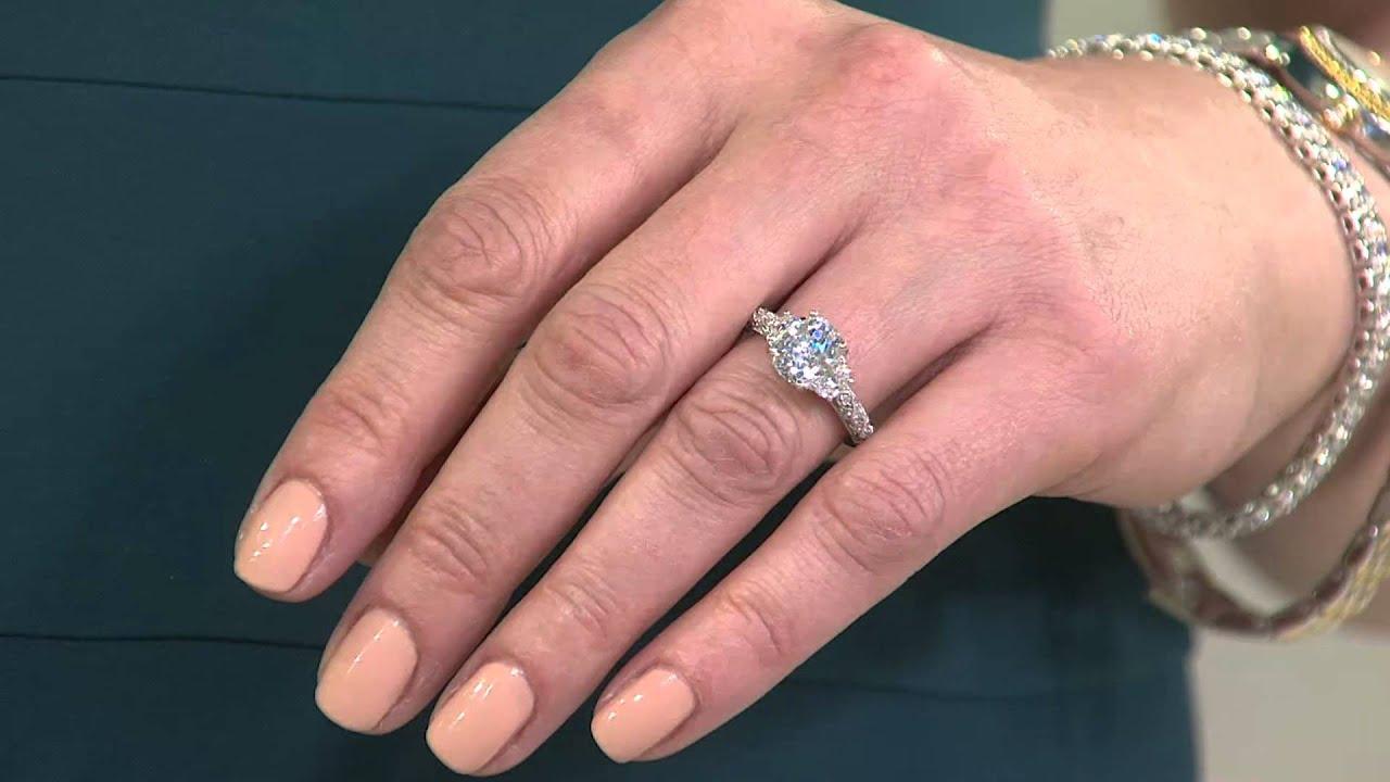 Epiphany Diamonique 3-Stone Vintage Design Ring with Jennifer Coffey ...