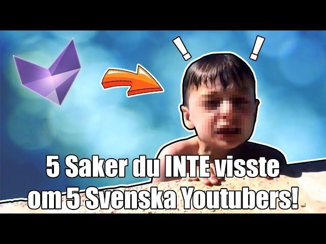5 Saker du INTE visste om 5 Svenska Youtubers! (Spotlight Central, SverigesT, Nava, Clueless)