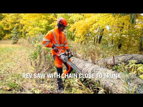 How to check that the chain lubrication works on your