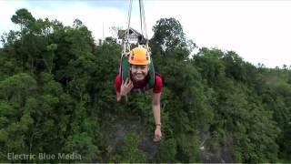 bohol danao adventure park suislide zip line in hd