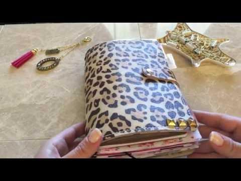 Wide traveler's notebook fauxdori planner setup