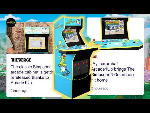 Arcade1up Simpsons Cab Is Officially Annouced! from 19kfox