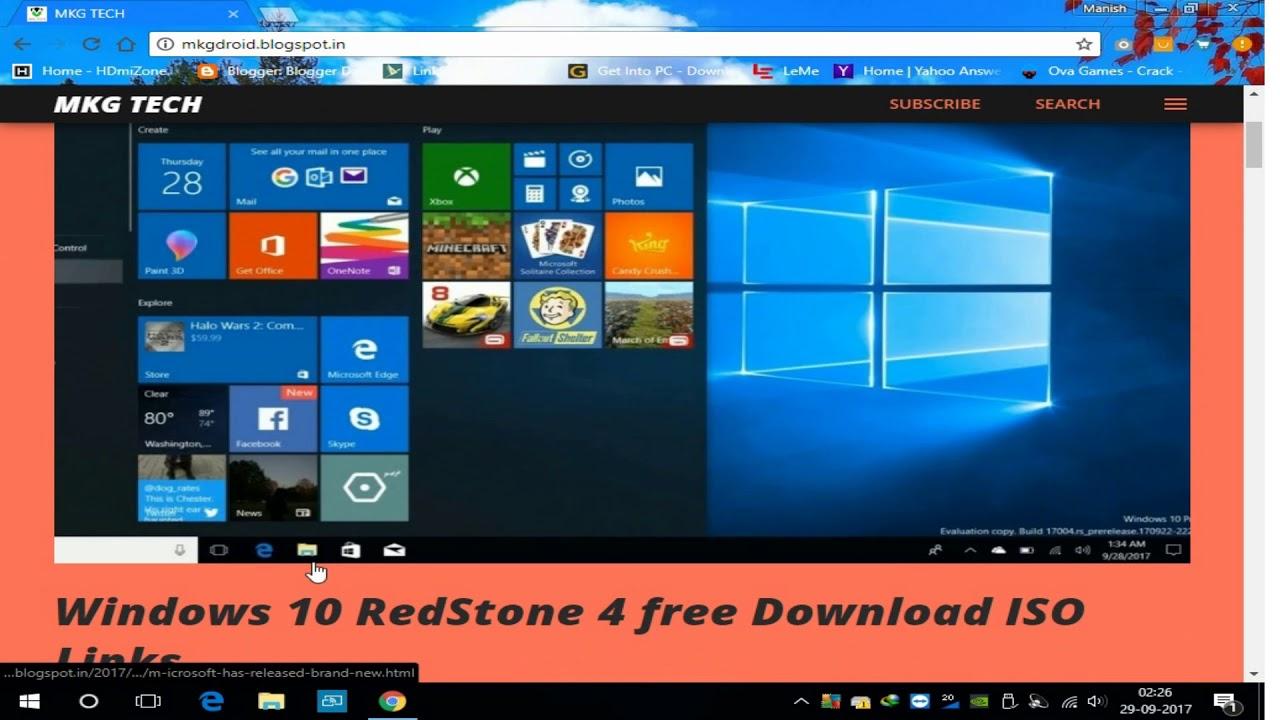 windows 10 redstone download iso 64 bit