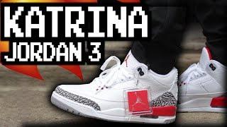 premium selection a71d6 9bde8 Air Jordan 3 Katrina On Feet