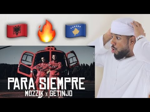 ARAB REACTION TO ALBANIAN MUSIC BY Mozzik x Getinjo - Para Siempre **AMAZING**