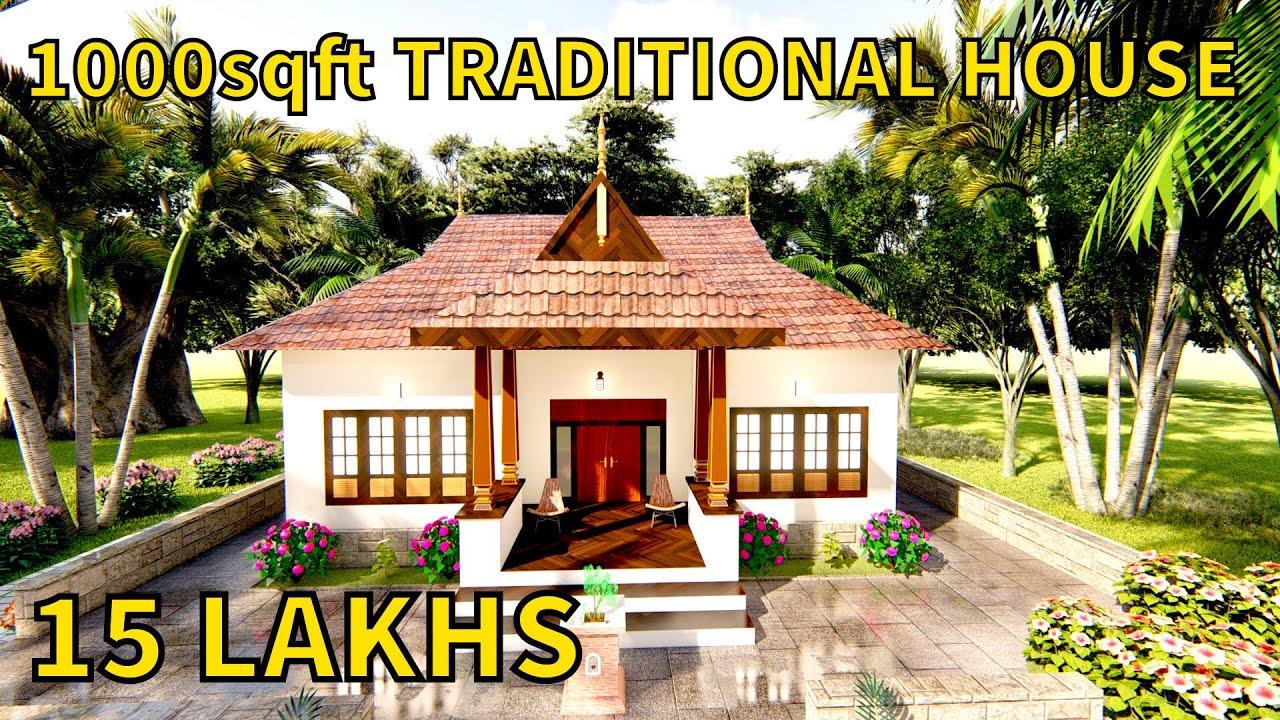 1000sqft Kerala Traditional House Nalukettu Model House Kerala House Design Kerala Home Design Youtube