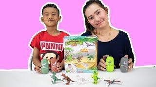 น้องโปรแกรม รีวิวของเล่น แคปซูลไข่ไดโนเสาร์   dinosaur egg
