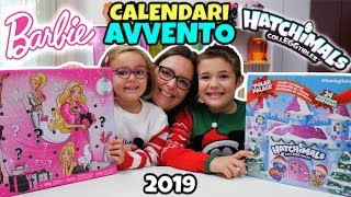 CALENDARI AVVENTO 2019 BARBIE e Hatchimals con 24 Sorprese