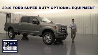 2019 FORD SUPER DUTY OPTIONAL EQUIPMENT