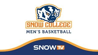 Snow College Mens Basketball vs CNCC 1-20-18