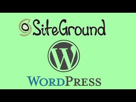 SiteGround Review for WordPress Hosting + Full Tutorial (2016)