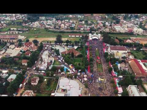 Drone View - Gare Antsirabe Paques 2017