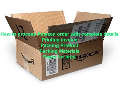 How to process Amazon order.