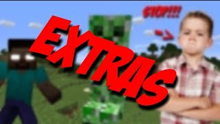 KID GETS MAD AT HEROBRINE AND CREEPERS *EXTRAS*