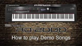 Roland RD-2000 - How to play Demo Songs