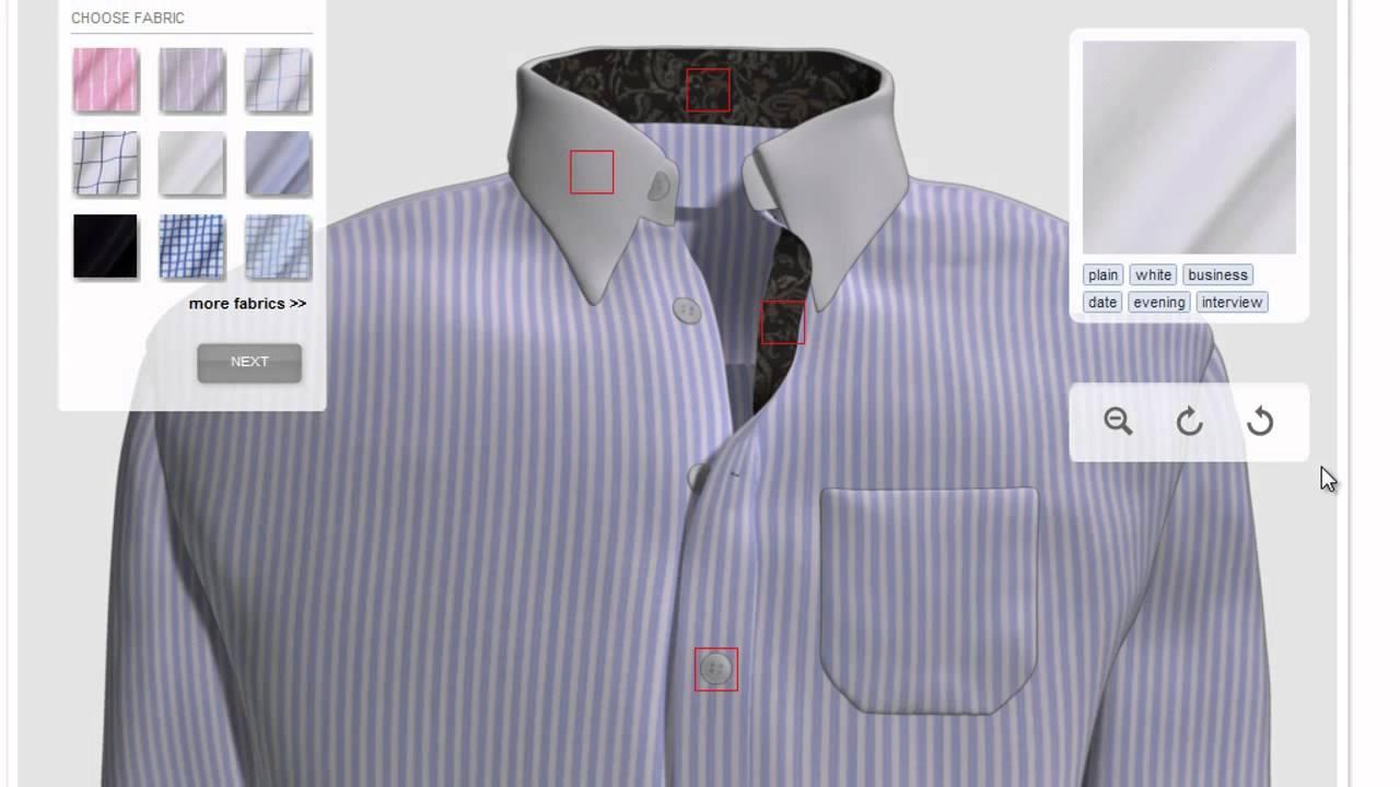 Shirt design online software - 6 Design A Custom Dress Shirt Online Bleu Flamme For Men