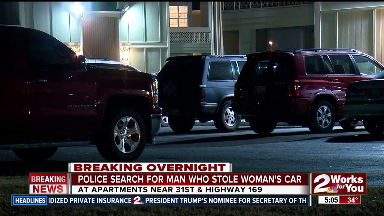 Man on the run after stealing a car at Sugar Plum Apartment - YouTube