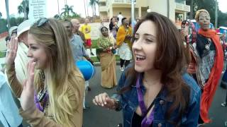 Partiers Dance with Hare Krishnas at Gasparilla 2017