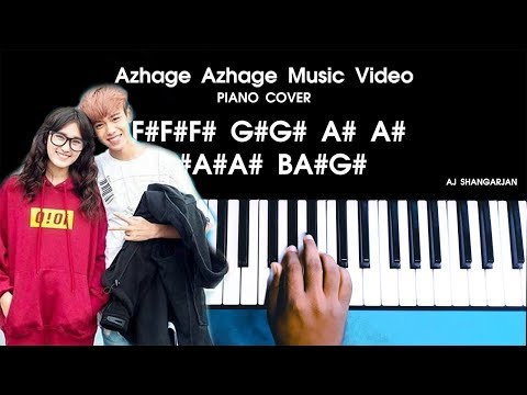 Azhage Azhage Album Song Piano Cover Version WITH NOTES | AJ Shangarjan