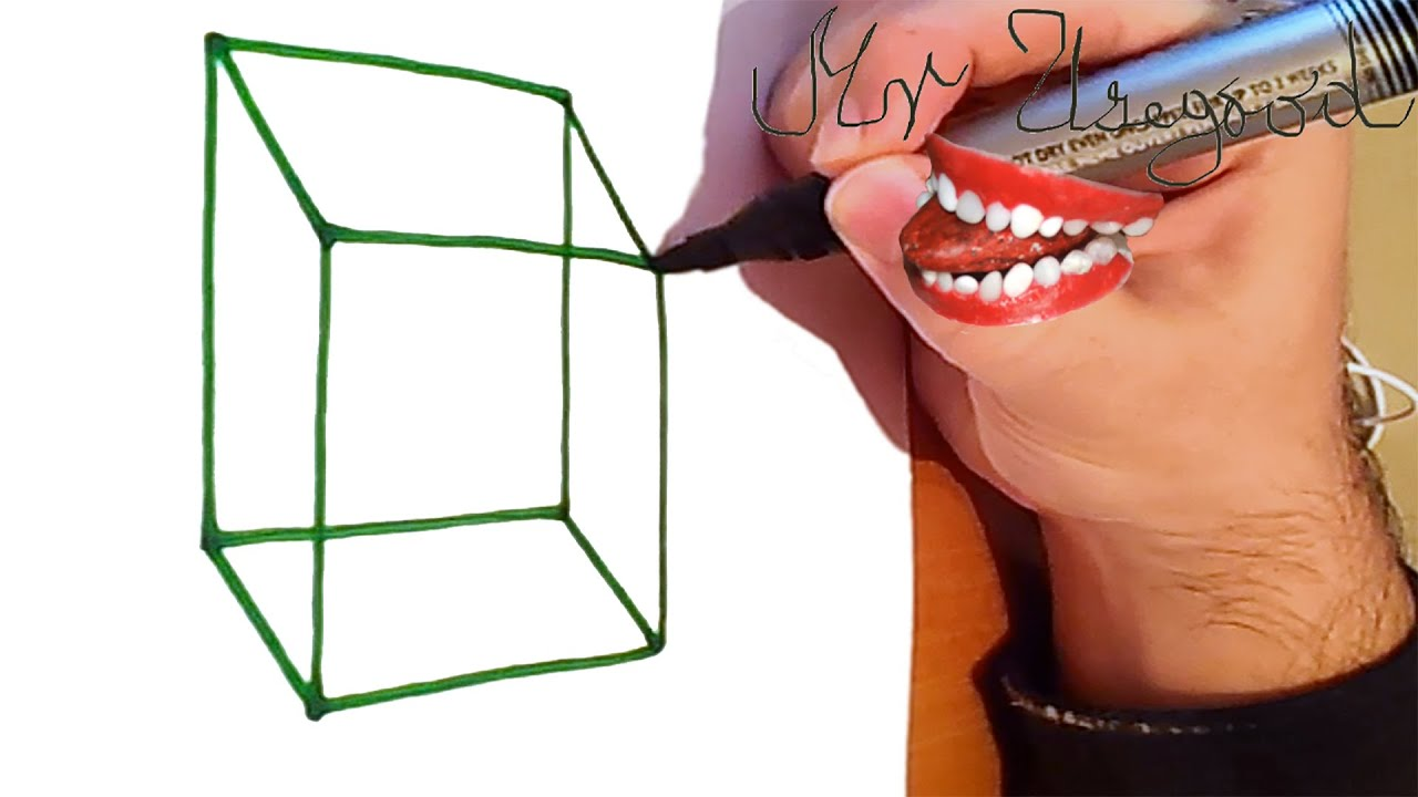 How to draw a cube for kids step by step easy 3d cube for Good but easy things to draw