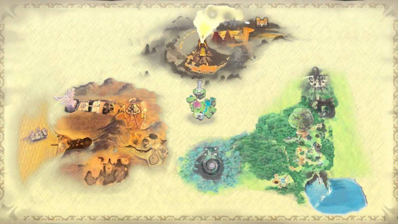 skyward sword world map Skyward Sword Full World Map Revealed Youtube